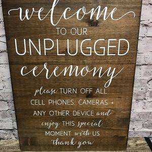 Wooded sign Wedding Ceremony Farm Country